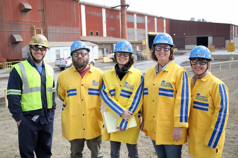 Faculty and staff from the U of A visit Gerdau Ameristeel in Fort Smith